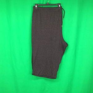 Woman Within 5X 38 40 Gray Capri Pants Two Pockets